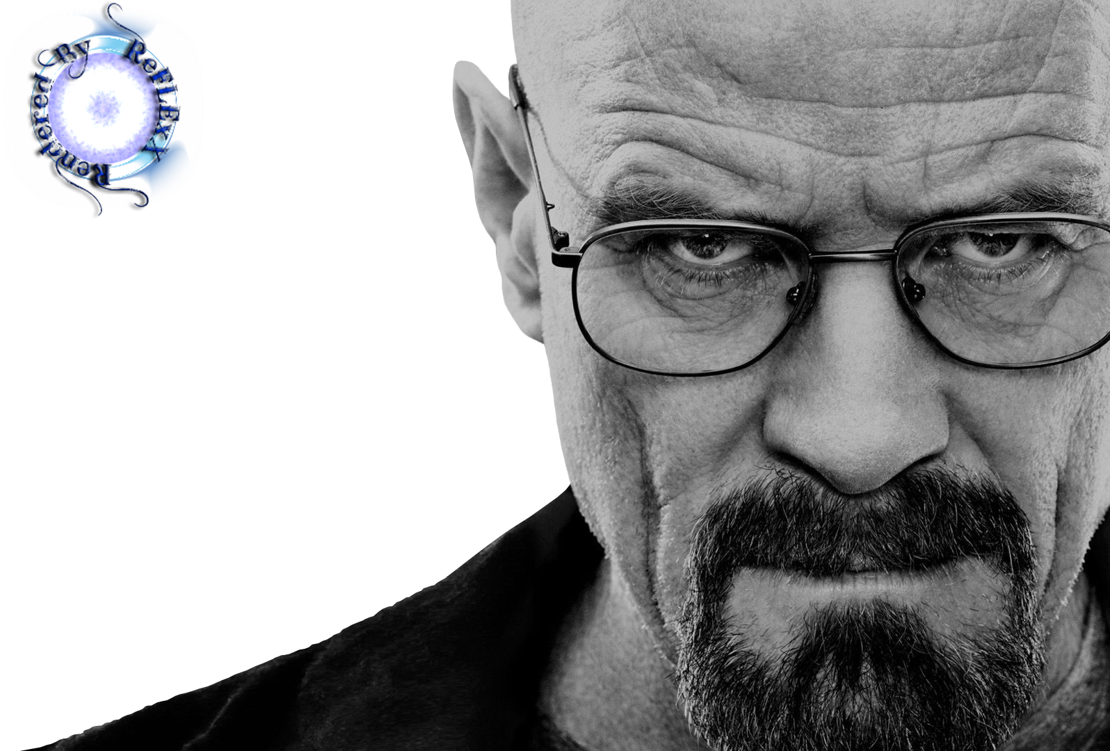 Render Walter White Breaking Bad Noir Blanc Black White Lunettes Chauve Movies And T V Series Png Cutout Image Upload By Re Breaking Bad Pinturas Dibujos