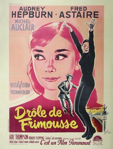 French Movie Poster Funny Face Vintage Movie Poster Audrey Hepburn In 2020 Movie Posters Vintage Romance Movie Poster Funny Faces