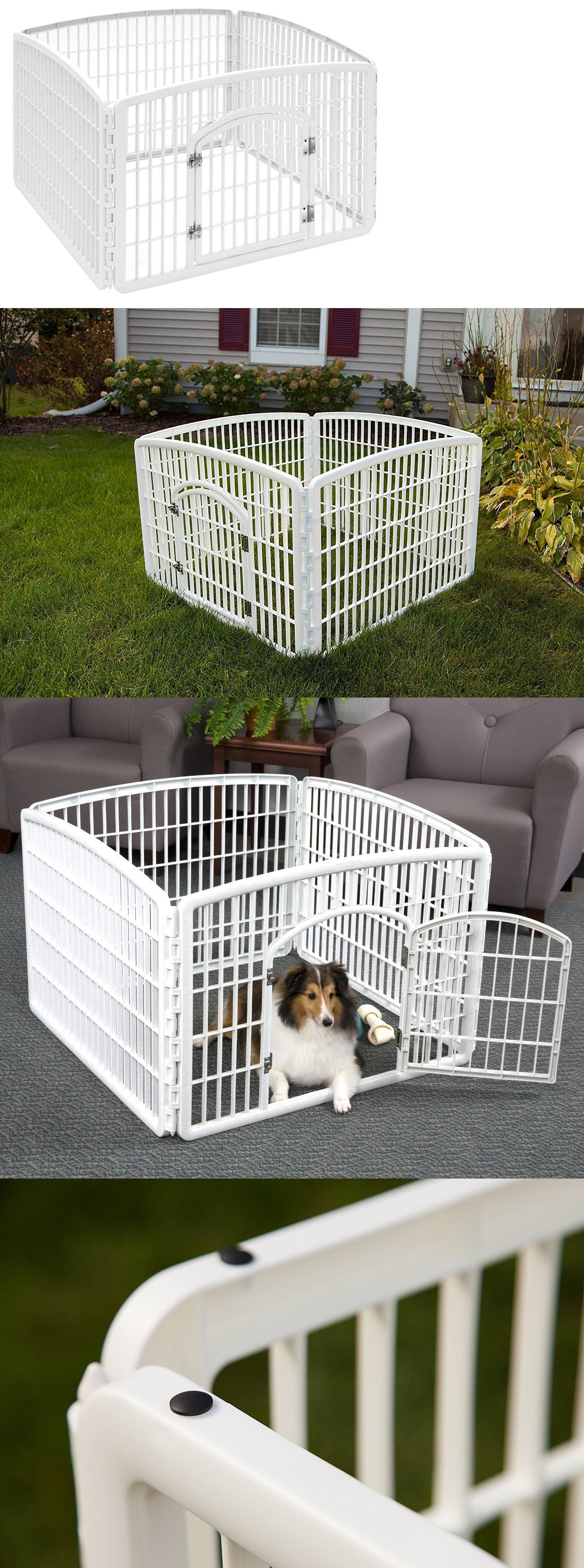 Fences And Exercise Pens 20748: Portable Exercise Playpen Pet Crate Cage Dog  Kennel Puppy Fence