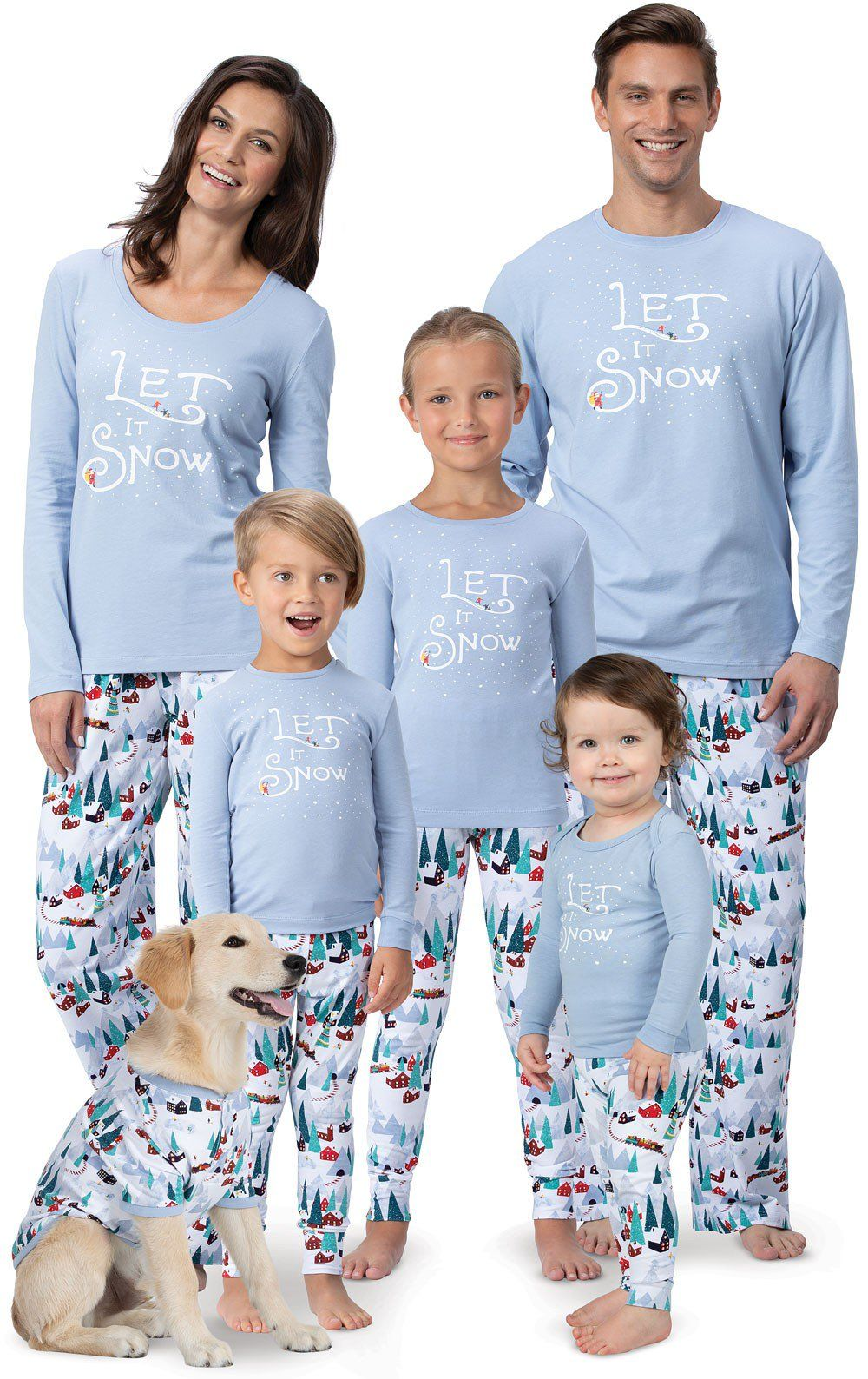 Let it Snow Matching Family Pajamas Matching family