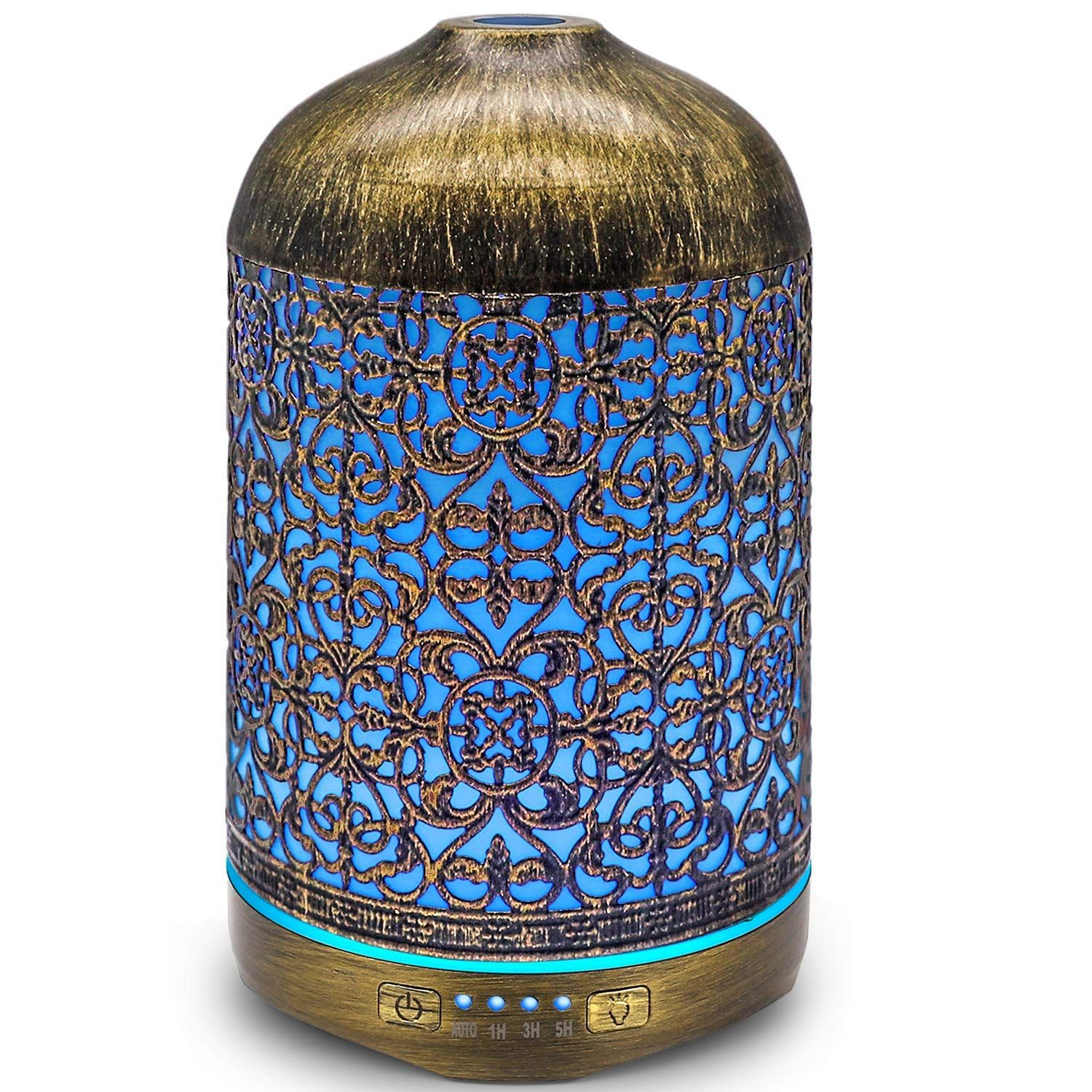 Infinitoo Aroma Diffuser 260ml Luftbefeuchter Metall Aromatherapie Diffusor Faœr A Therische A Le In 2020 Duftlampe Diffusor Licht