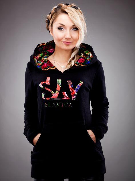 53a3492848cff7 Czarna bluza - kolekcja SLAVICA od Cleo | Ludowo w 2019 | Bluzy ...