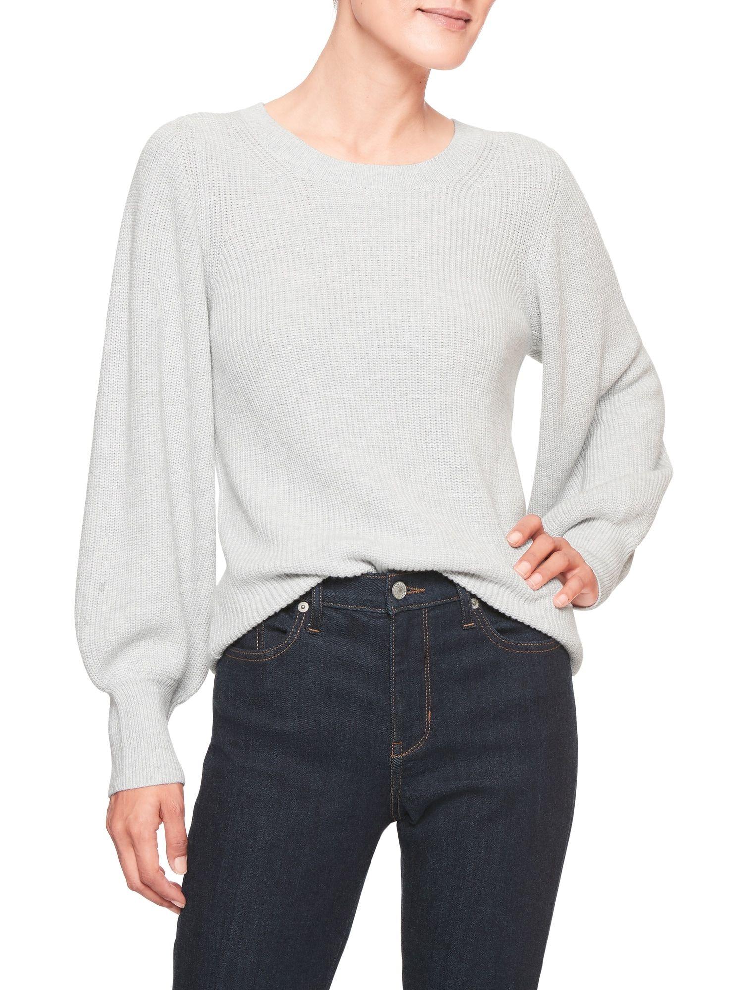 59c5cd34cc Lantern Sleeve Mock Neck Sweater