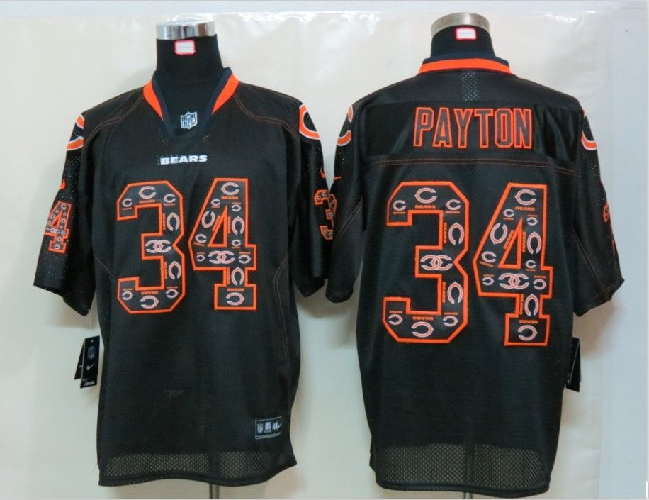 209f3bfd NFL Chicago Bears 34 Payton Lights Out Black Elite Jerseys | 2016 ...