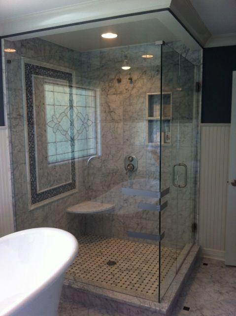 This Shower Enclosure Benefits From Substantial Decorative