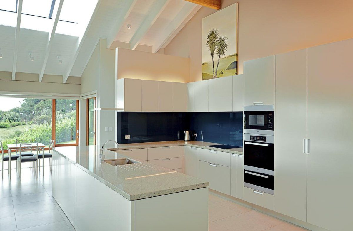 contemporary kitchens islands. White Kitchen Island, Elegant Contemporary Home In Te Horo, New Zealand Kitchens Islands T