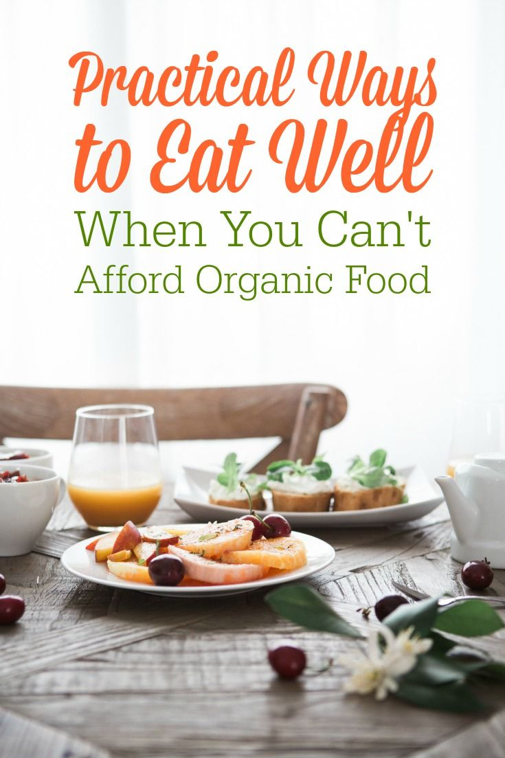 I remember feeling bad because we couldn't afford organic food, and I wanted to feed my children healthy food. Guess what?! I learned that you CAN feed your family well on a tight budget--organic or not!