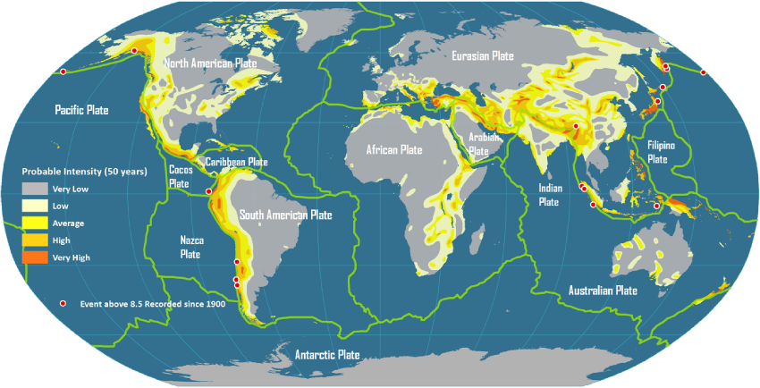 Seismic Activity Map Global Plate Tectonics and Seismic Activity | earthquake | Map