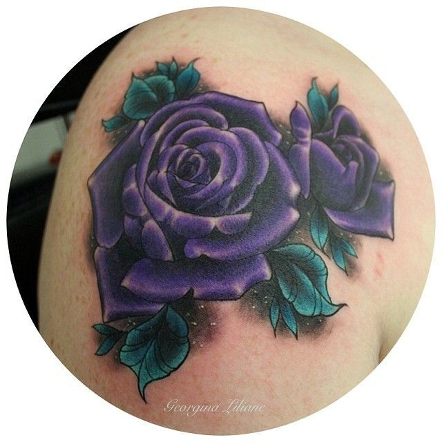 Image result for purple gerbera daisy tattoo on shoulder