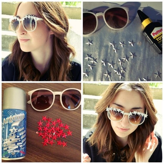 bc67e0ddbc7e 27 Inspired Ways To Decorate Your Sunglasses