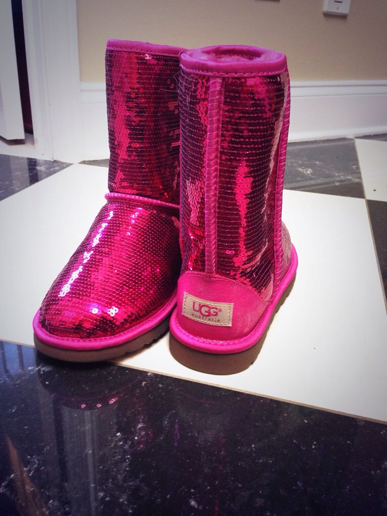 hot pink sequin uggs