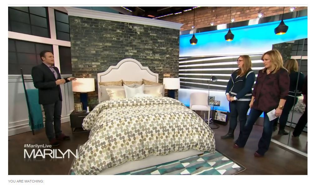 "Muralunique.com at ""The Marilyn Denis Show"" on CTV in Ontario. http://www.marilyn.ca/AtHome/segments/Daily/Nov2015/11_12_2015/PeacefulBedroom"