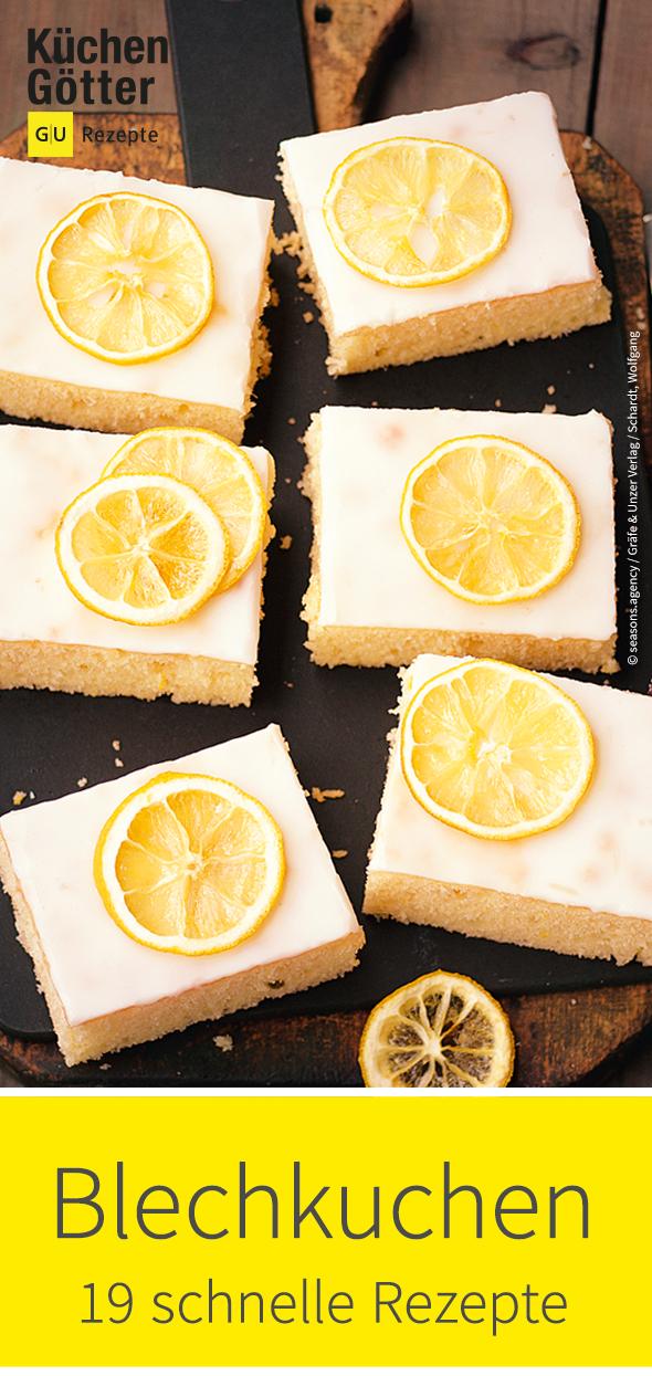 Zitronenkuchen, Himbeer-Mandel-Kuchen oder Walnusskuchen ...