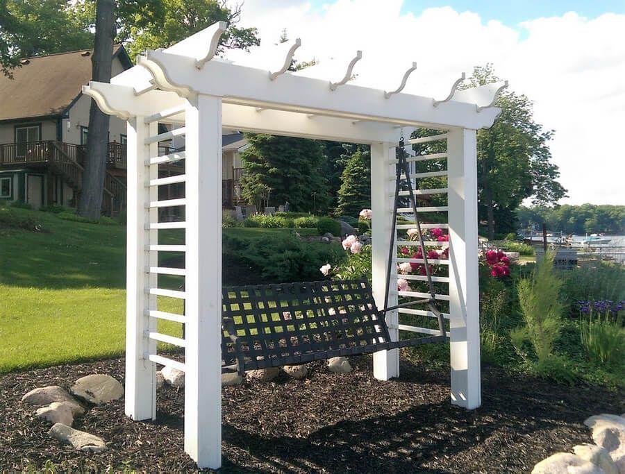 Garden Swing Pergola Plan Outdoor pergola, Pergola plans