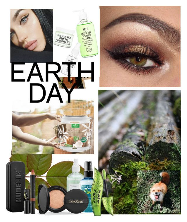 """""""EarthDayShay"""" by itsshayplay on Polyvore featuring beauty, Nudestix and Lancôme"""
