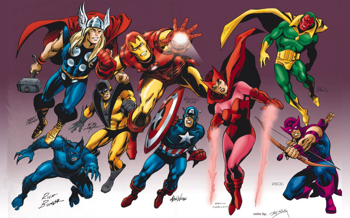 Ultimate Avengers Coloring Pages : Ultimate avengers wallpaper eight super heroes on the air marvel
