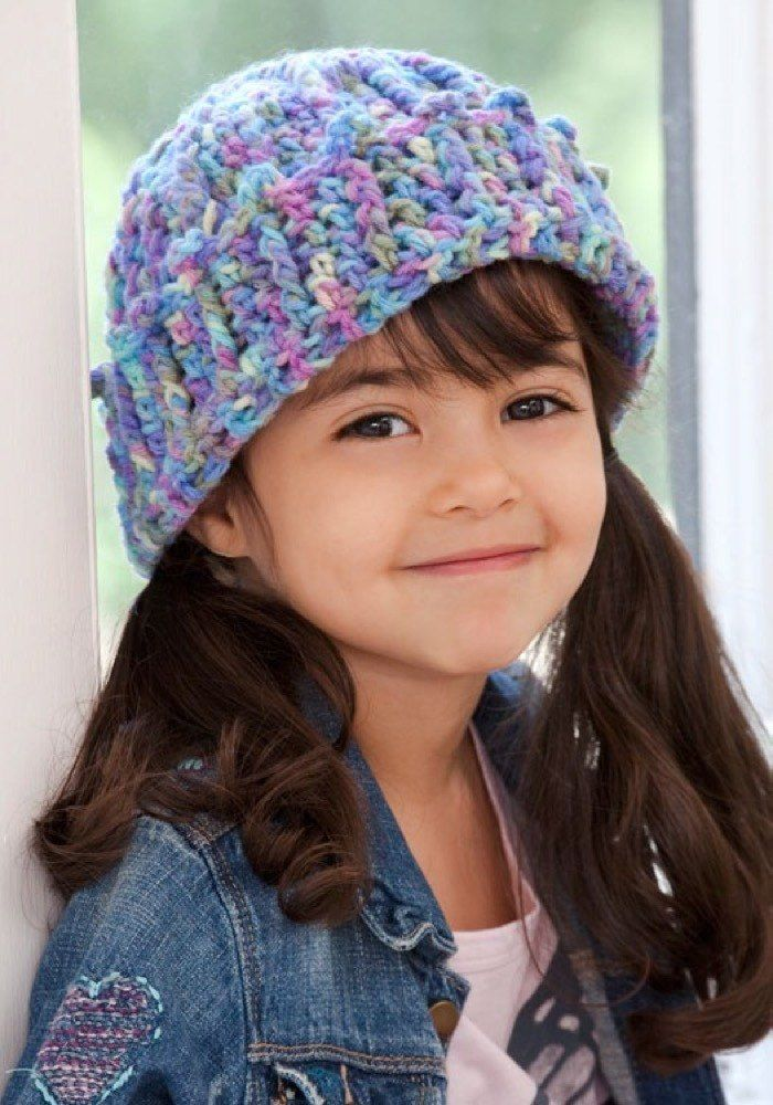Cuffed Cutie Hat In Red Heart Super Saver Economy Prints Lw2730