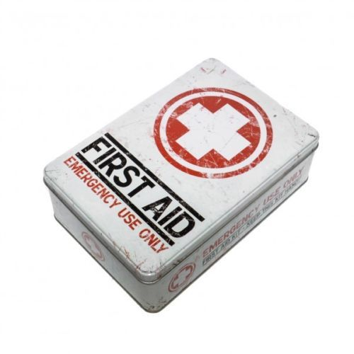 first aid kit metall vorratsdose flach erste hilfe verbandskasten kueche box object oriented. Black Bedroom Furniture Sets. Home Design Ideas
