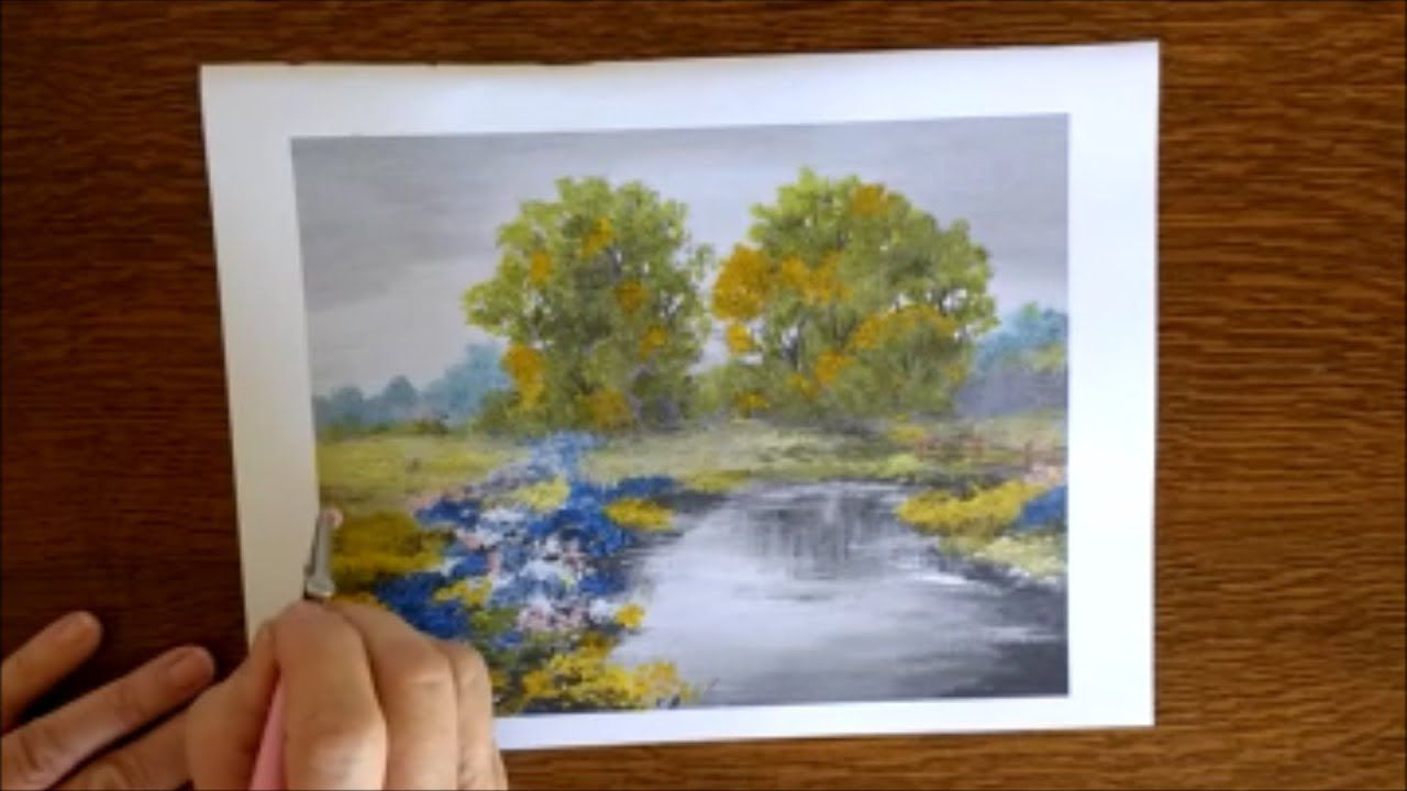 Grayscale Coloring Tutorial Demo From Charming Landscapes Make A Masterpiece Adult