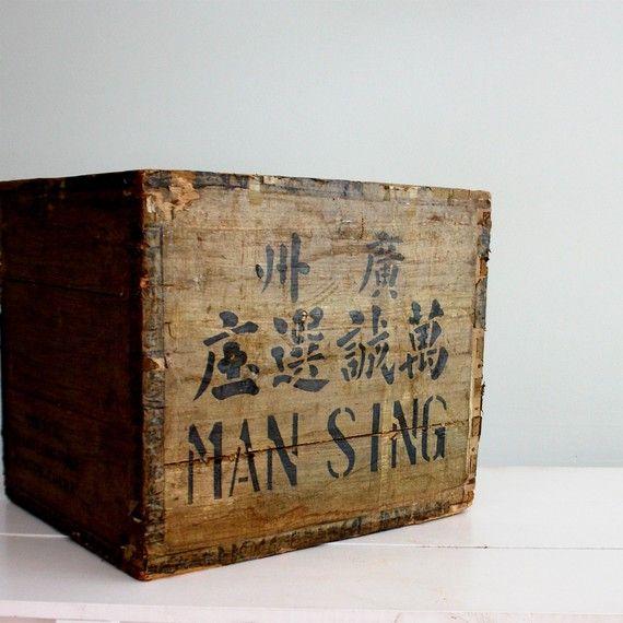 Old Tea Crate