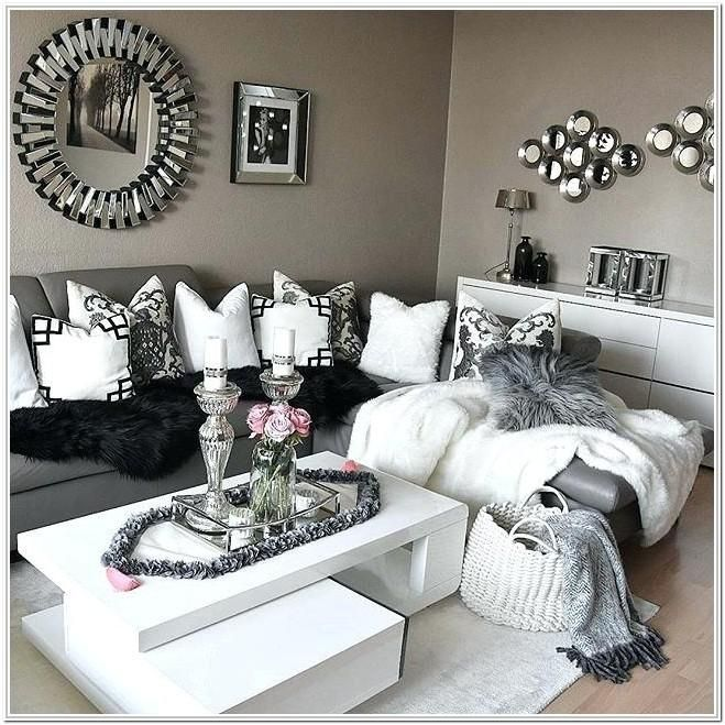Black Grey And Silver Living Room Ideas, Silver Living Room