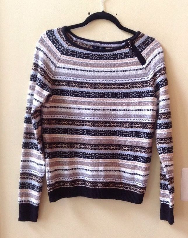 NWT TOMMY HILFIGER WOMEN'S MULTI-COLOR COTTON BLEND SWEATER SIZE S-$89.50 #TOMMYHilfiger #BoatNeck