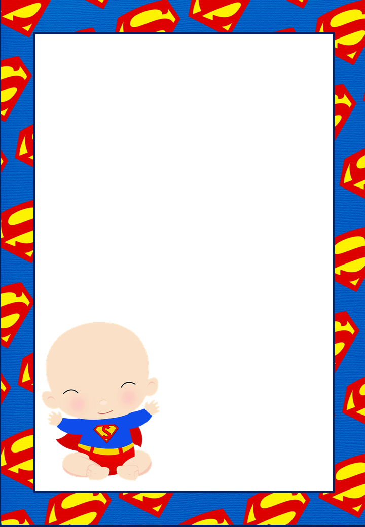 It is a graphic of Free Printable Superhero Baby Shower Invitations inside invitation card