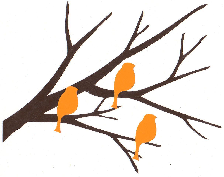 BOGO SALE  buy 1 get  1 free - little branch with 3 birds self adhesive vinyl decal (No.115). $ 2.75, via Etsy.