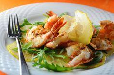 Cedri- Zitronencarpaccio mit Krevetten