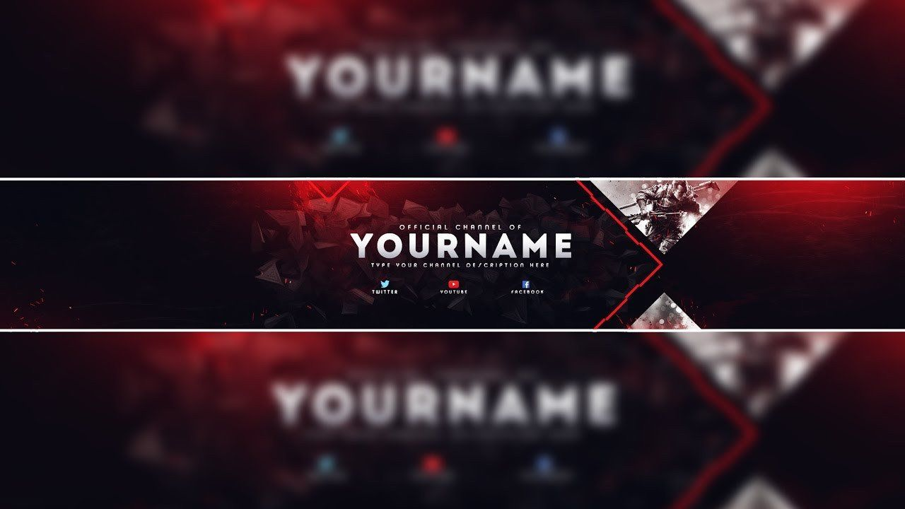 Youtube Banner Photoshop Template Lovely Header Template Gaming Banner Template Di 2020 Desain Banner Seni Gambar
