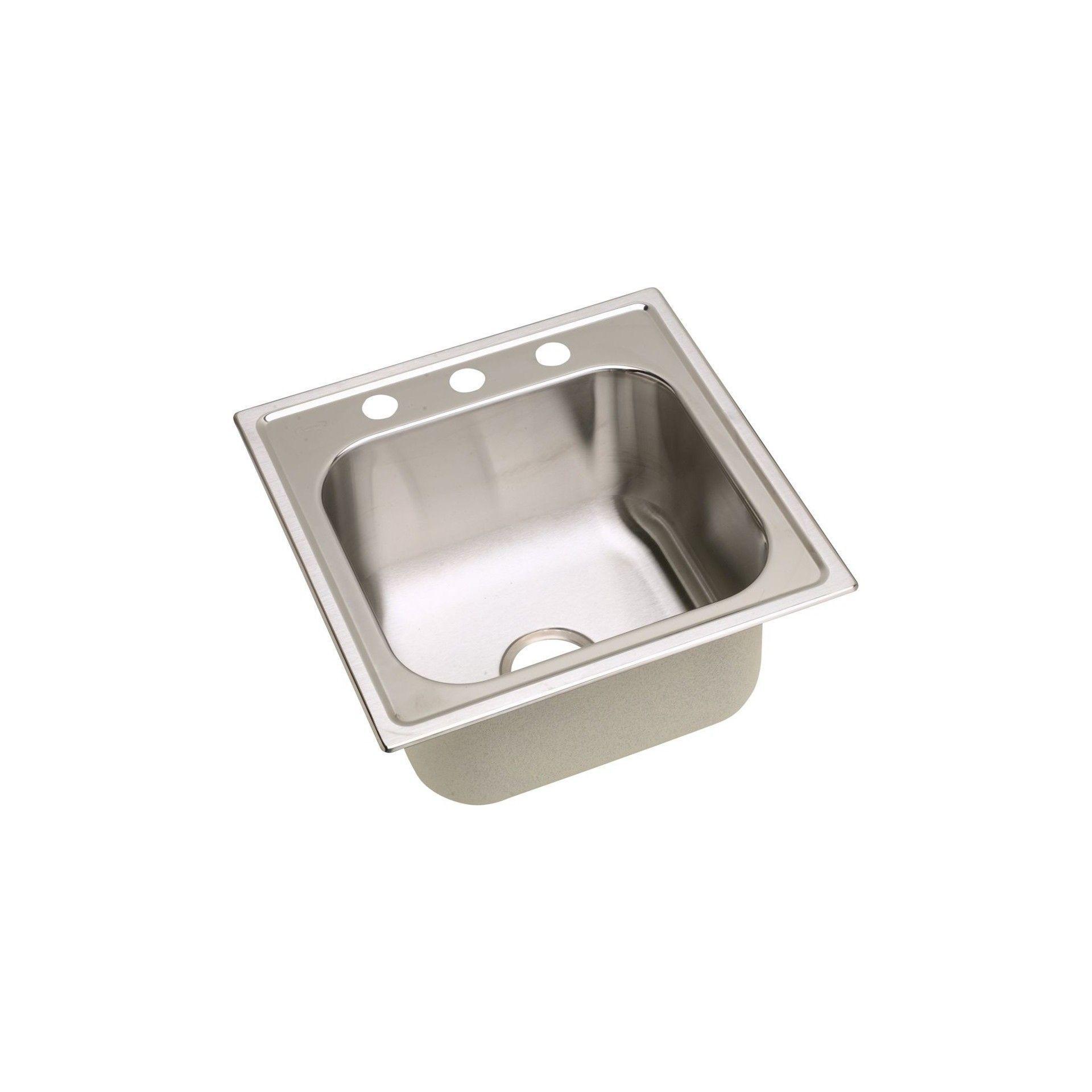 Elkay Dayton Stainless Steel 20 X 20 X 10 1 8 Single Bowl Top