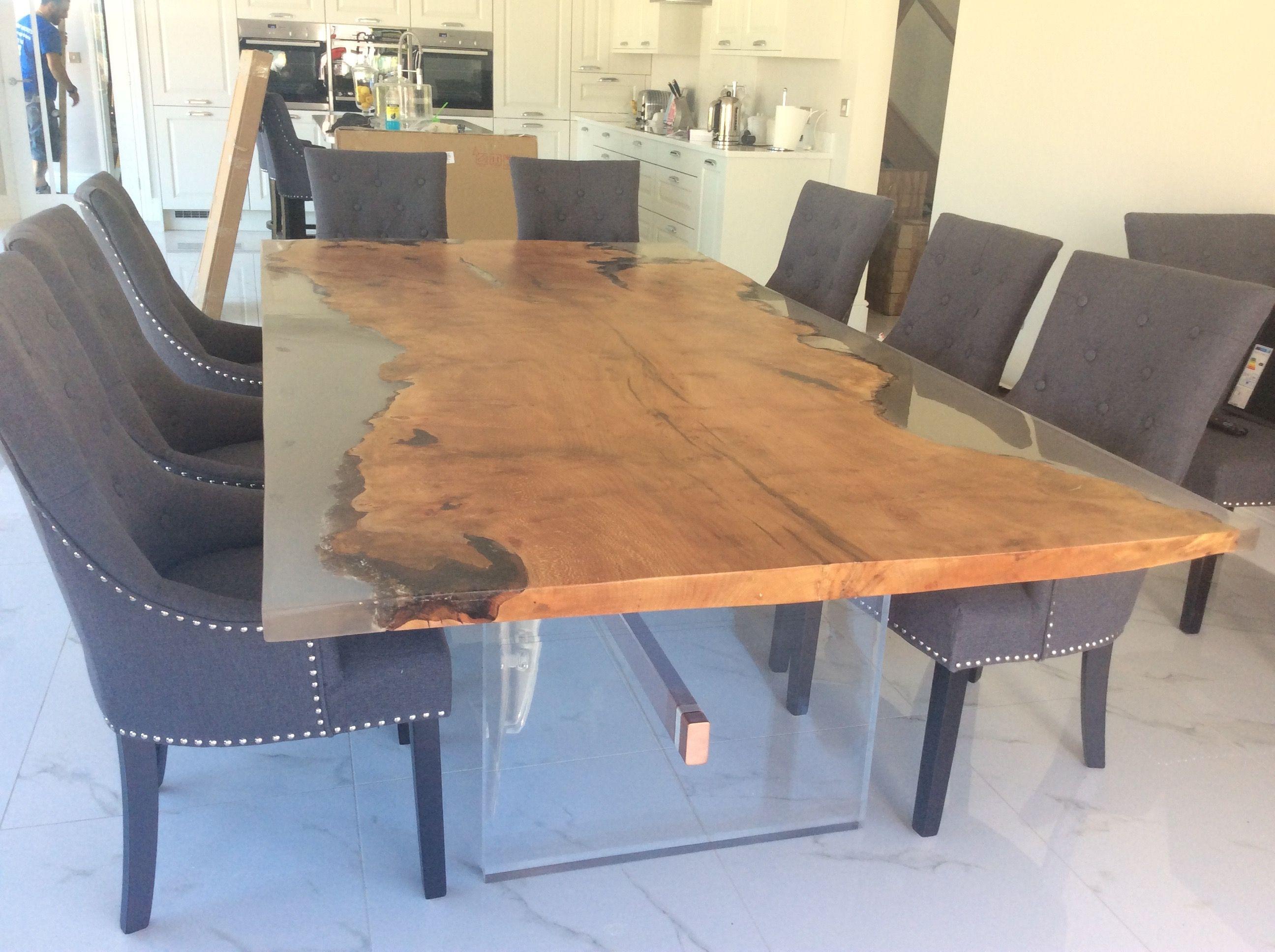 resin tree slice dining table | DINING ROOM IDEAS | Pinterest