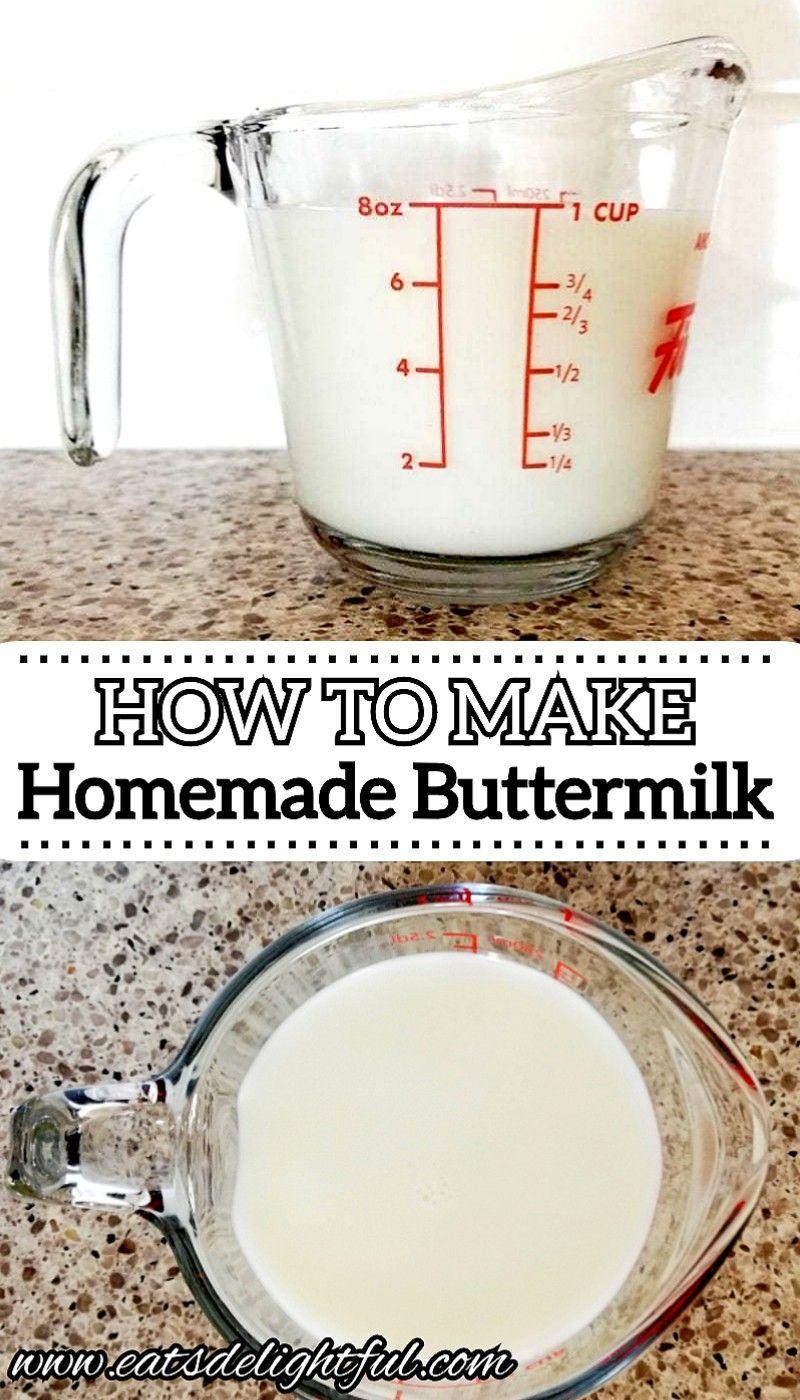How To Make Buttermilk Eats Delightful Recipe In 2020 How To Make Buttermilk Homemade Buttermilk Buttermilk