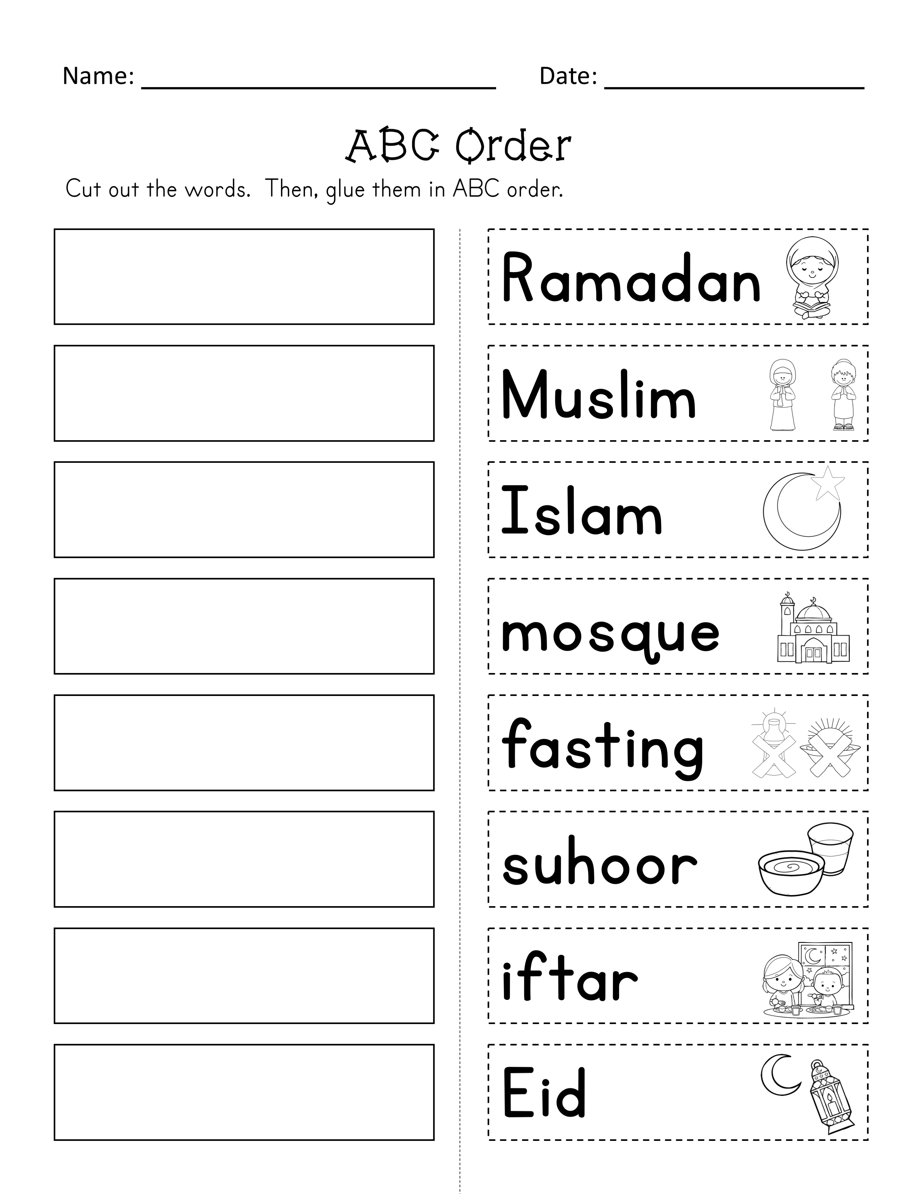 Ramadan Reader And Activities Ela Math Puzzles