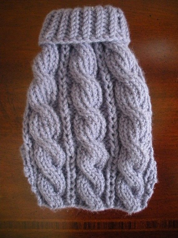 Dog Sweater - Chunky Cable Knit - X Small - Ready to Ship in Gold ...
