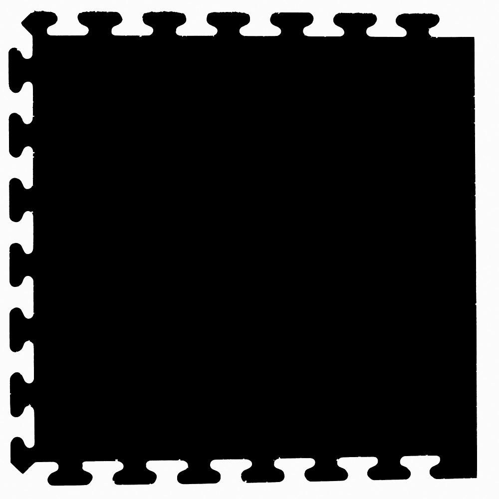 Mats Solid Black 24 In X 24 In Finished Side Recycled Rubber Floor Tile 16 Sq Ft Case Rubber Flooring Recycled Rubber Rubber Tiles
