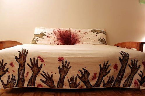 Zombie bed sheets...for company that stays too long!