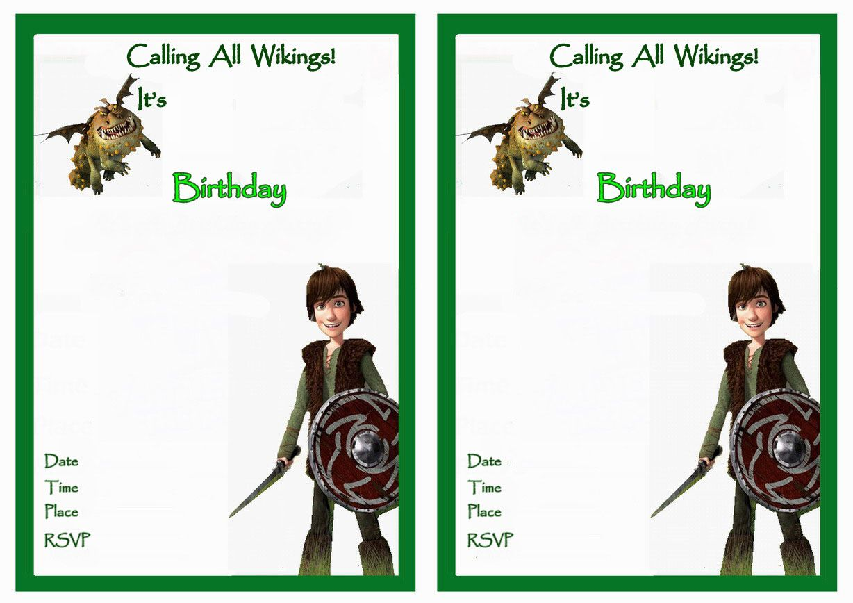 How to Train Your Dragon Birthday Invitations – Birthday Printable ...