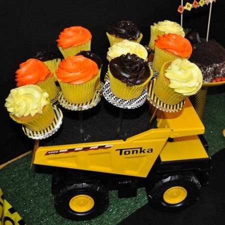 Easy Construction Baby Shower Theme Cupcakesjust Add Trucks