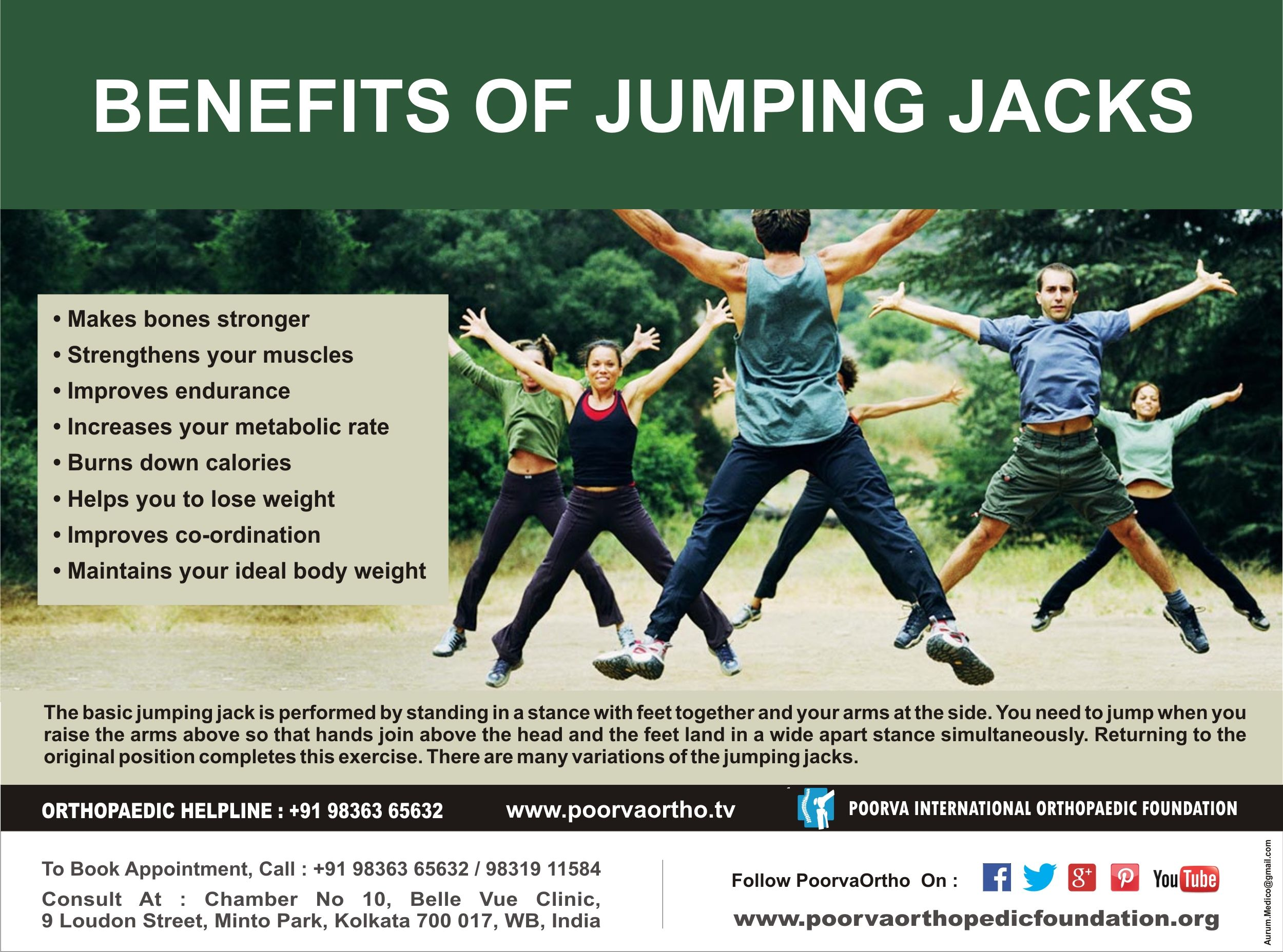 Do You Know The Benefits Of Jumping Jacks Jumping Jacks Benefits Ideal Body Weight Improve Endurance