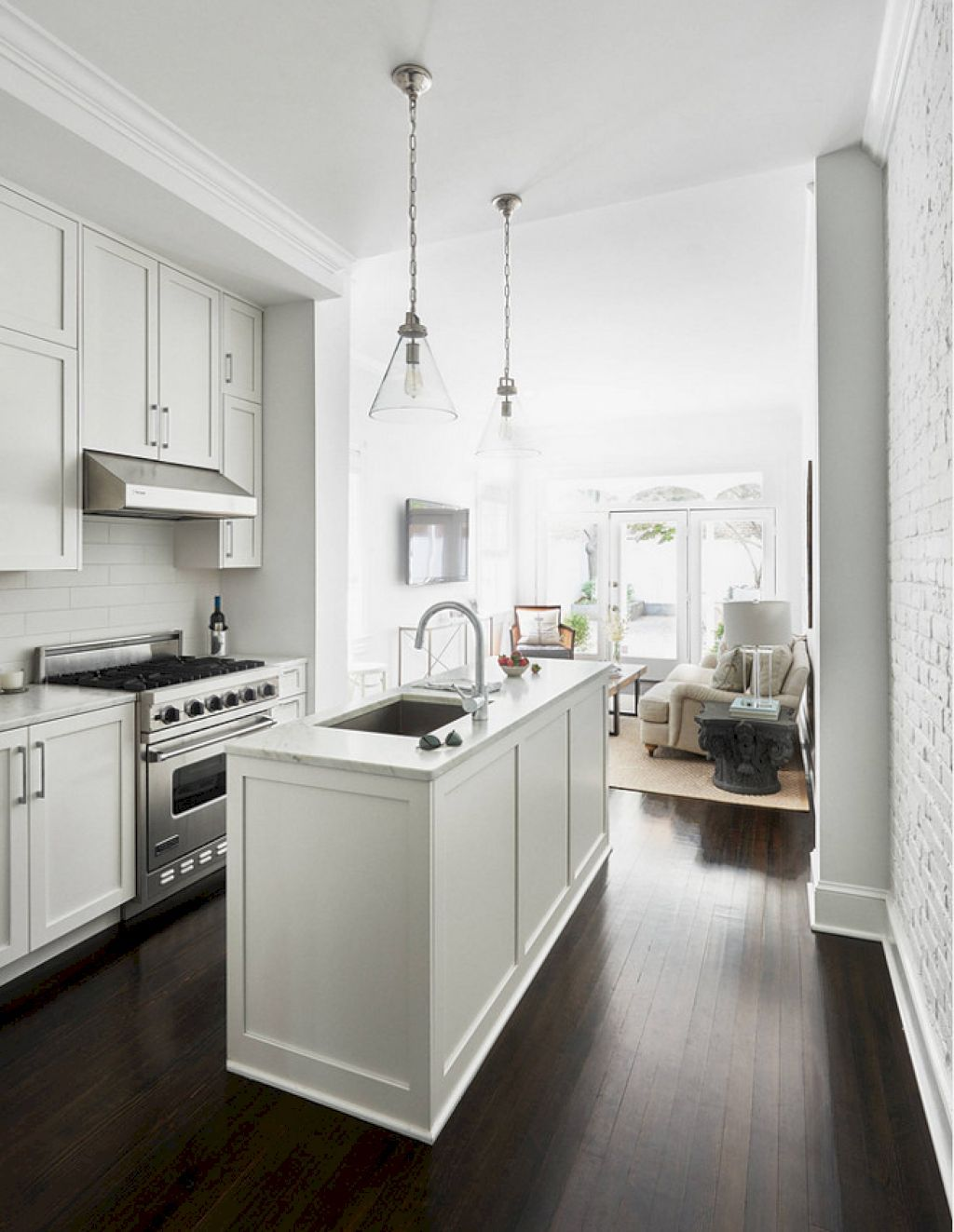 76 Simple and Minimalist Small White Kitchen