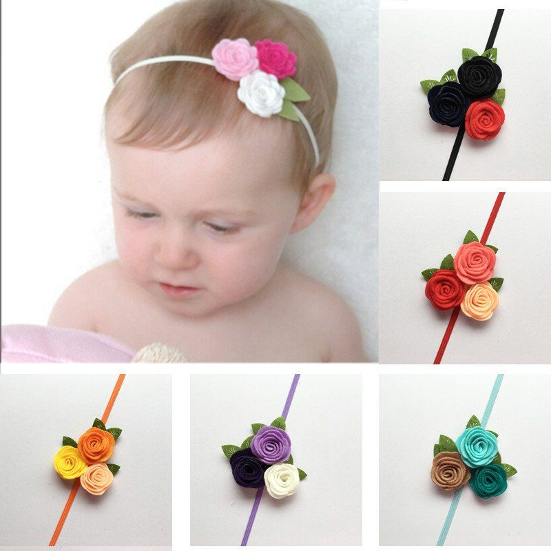 Kids Baby Girl Party Photography Flower Hair Clips Hairpin Headband Headwear Bow