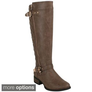 Refresh Women's 'Libby-05' Lace-up Knee-high Riding Boots by ...