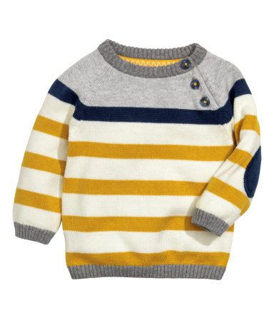 9ee4989921e03a H M  12.99 Fine-knit cotton sweater with raglan sleeves