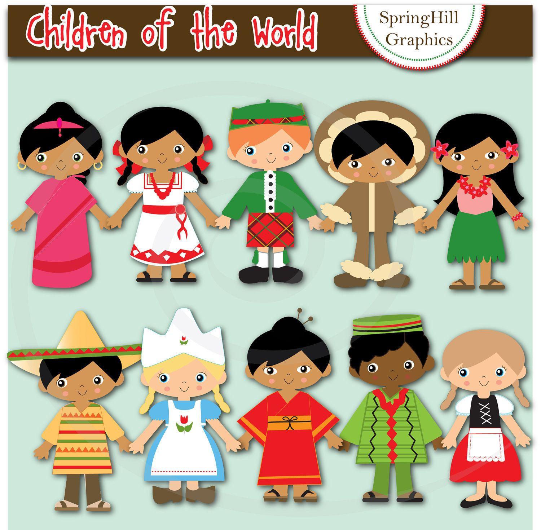 Instant Download Children Of The World Digital Clip Art