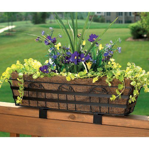 32 Best Deck Rail Planters Images On Pinterest: Bronze Rectangle Coco Liner/Mild Steel Yorkshire