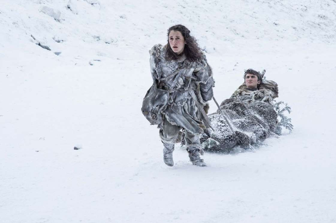 Meera Reed (Ellie Kendrick) has taken over Hodor's pulling duties for Bran... - HELEN SLOAN/HBO