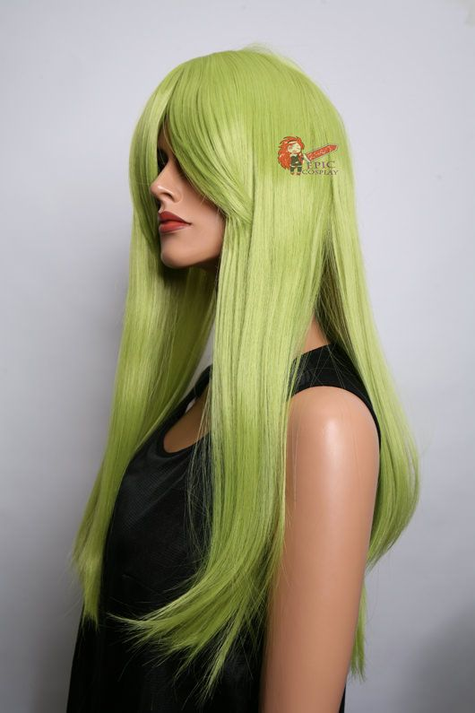 Long Wigs Straight Long Cosplay Wigs Nyx 28 Tea Green Long
