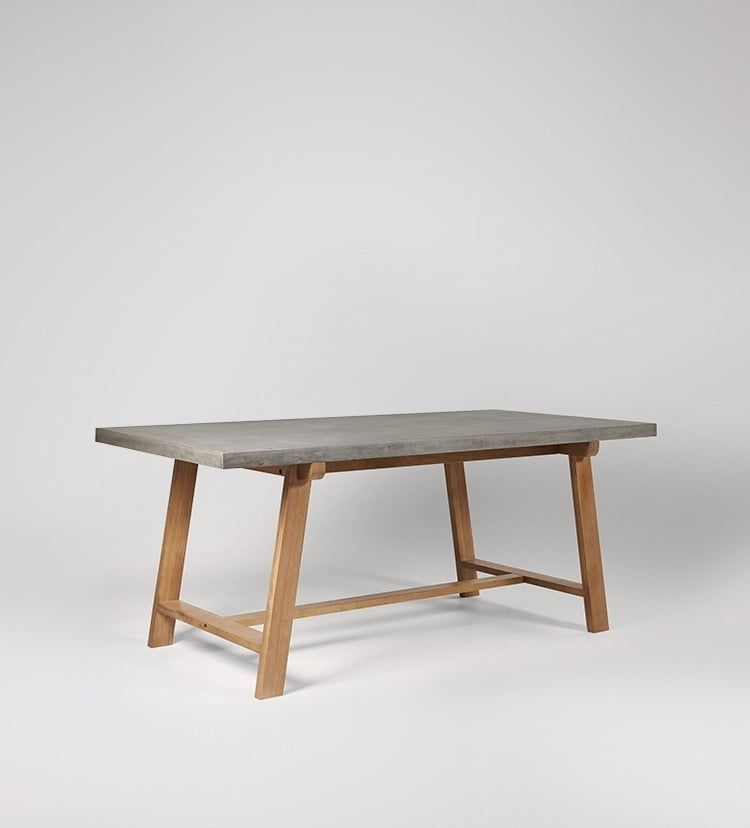 Amherst Dining Table Swoon Editions Concrete Dining Table