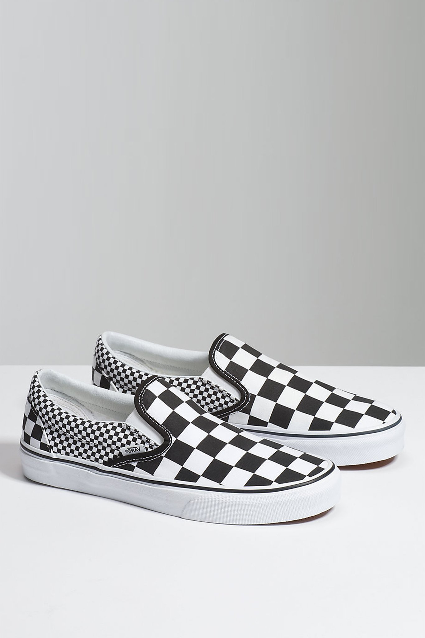 VANS Checkerboard Slip On Black & Black Shoes CHECK